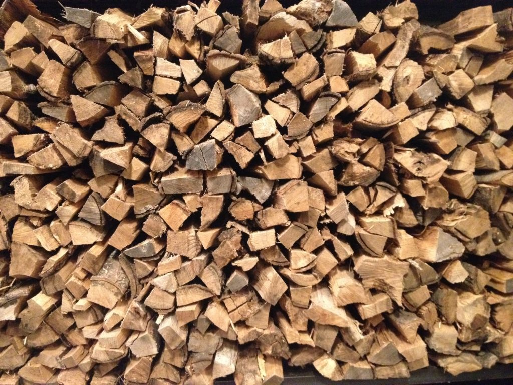 Wood for the oven.