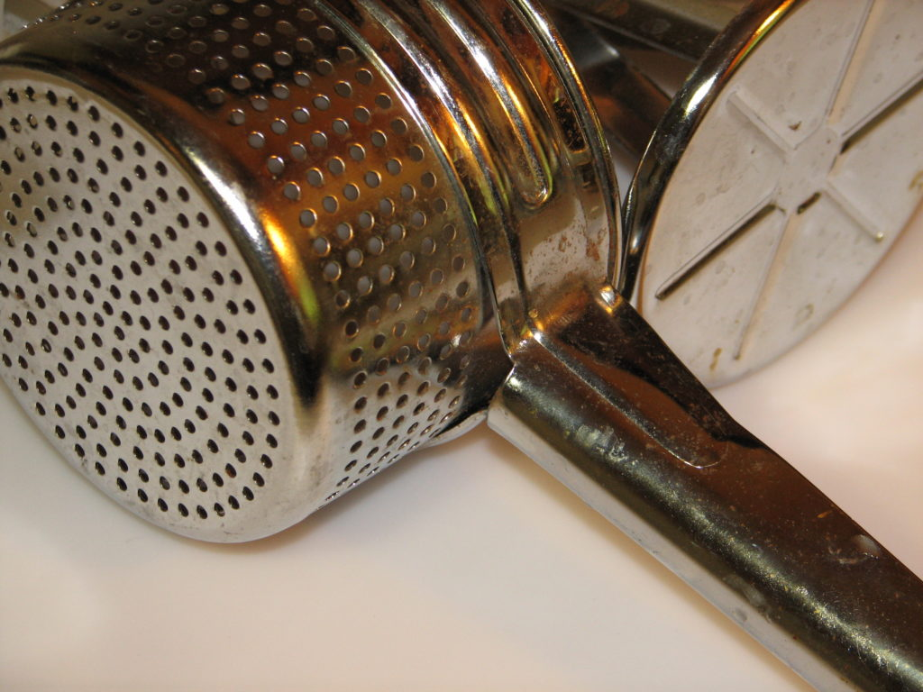 old-fashioned potato ricer