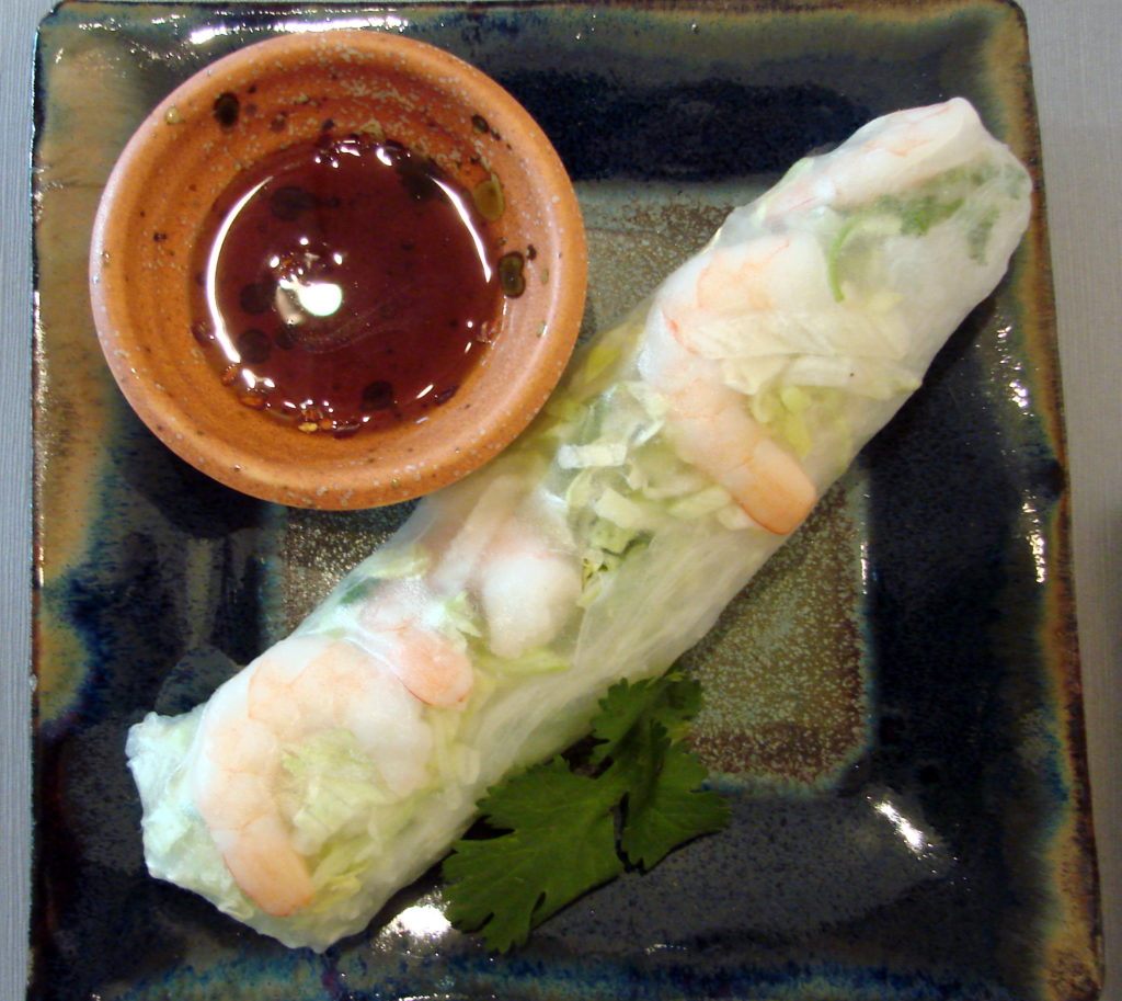 Non-fried spring rolls are light and fresh-tasting,, not to mention good for your health.