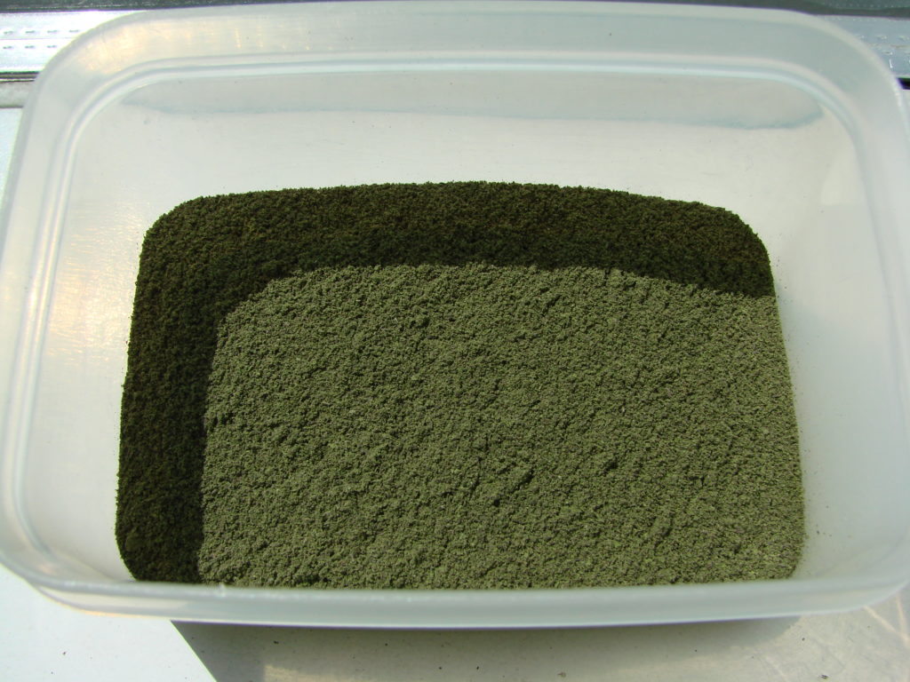 Dried, ground and ready to use.