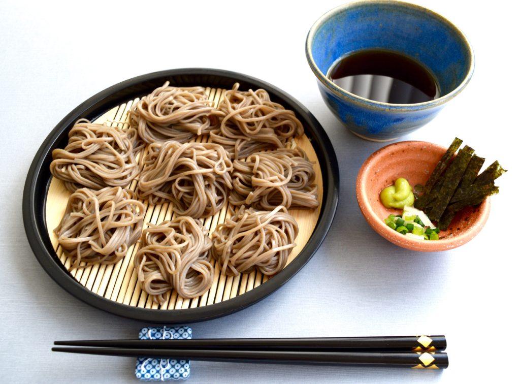 Zaru-soba (Japanese cold soba noodles)