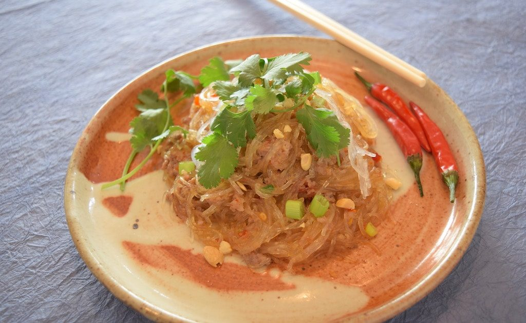 Thai Cellophane Noodles with Pork