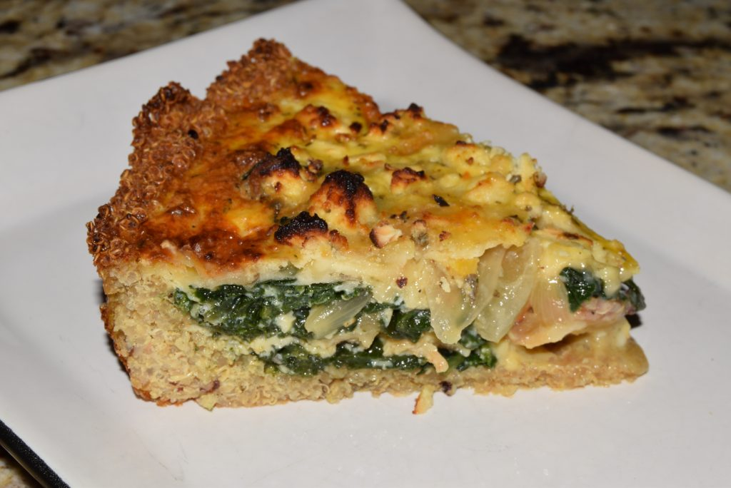 Quinoa Crust Quiche