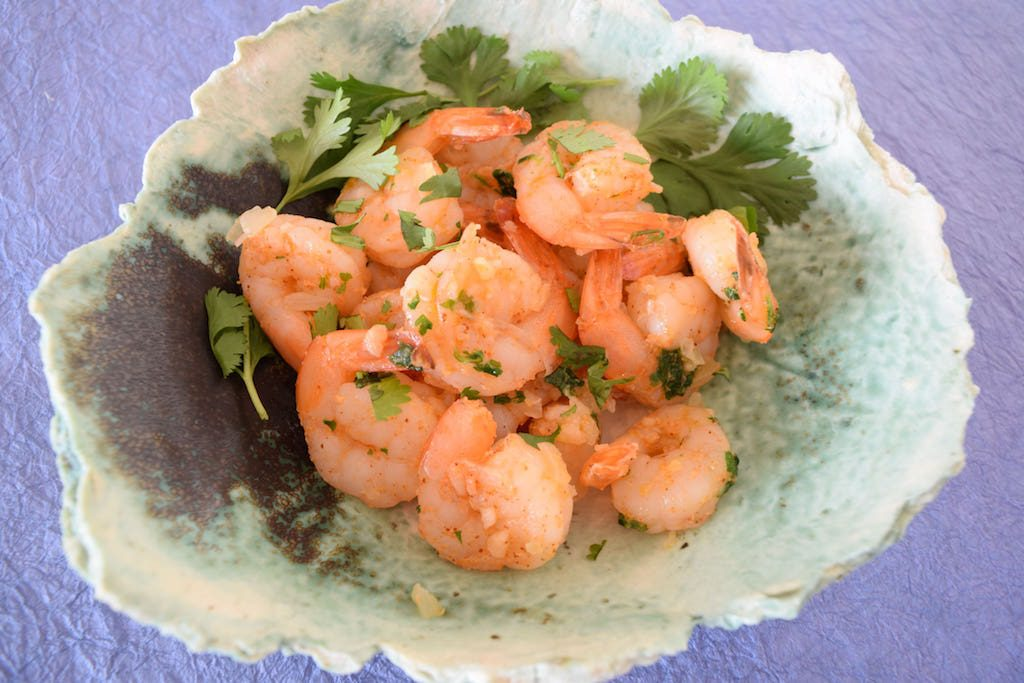 Shrimp with Cilantro and Garlic
