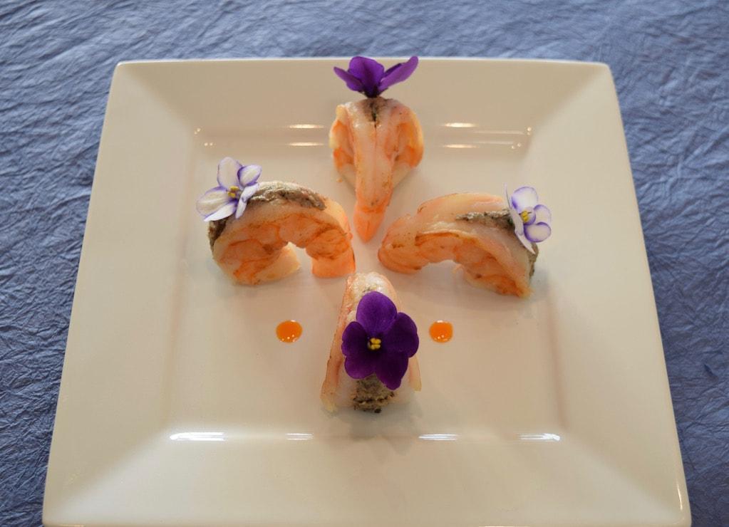 Shrimp with Mushroom Pâté